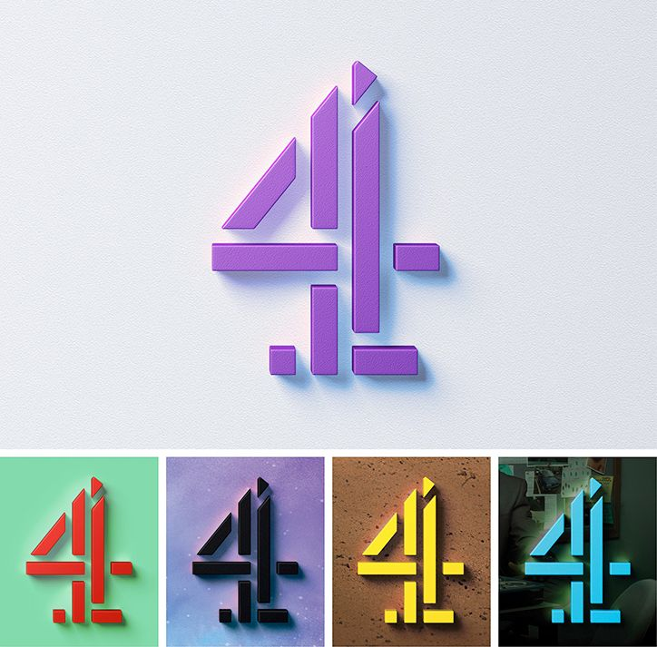 New Channel 4 identity by creative dream team of 4Creative, Jonathan Glazer, Neville Brody and DBLG