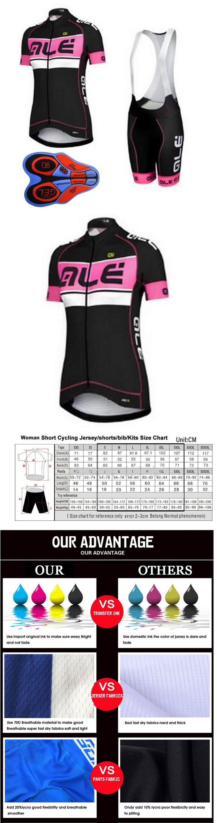 Jersey and Pant Short Sets 177852: C083 Women Cycling Jersey 9D Bib Shorts Bicycle Short Sleeve Sportswear Clothing -> BUY IT NOW ONLY: $33.25 on eBay!