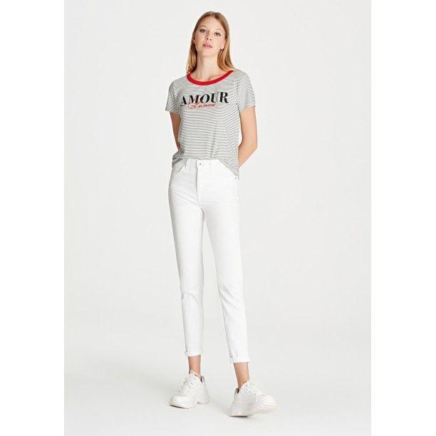 Cindy Gold Beyaz Jean Pantolon Kiyafet Ve Aksesuarlar Giyim Esyalari Lidyana Giyim Mavi In 2020 Fashion Pants Jeans