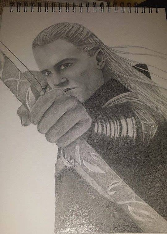 Legolas drawing.