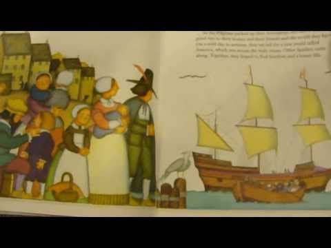 The story of the Pilgrims thanksgiving read aloud picture book story - YouTube