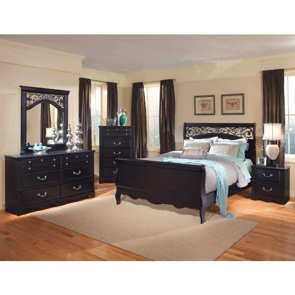 Loveeeeee This Black Bedroom Set