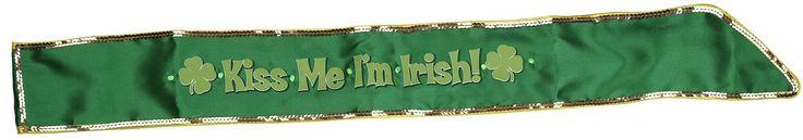 St Patricks Day I'm Irish Flashing Costume Sash