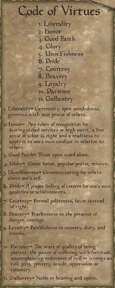 code of virtues