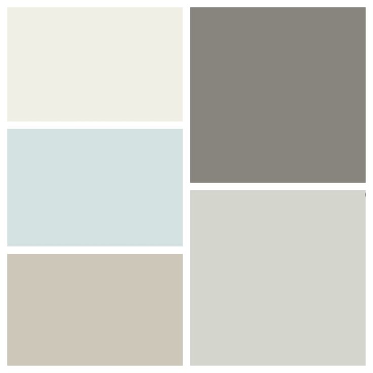 New House Color Scheme Clockwise From Top Left Benjamin Moore White Dove Chelsea Gray
