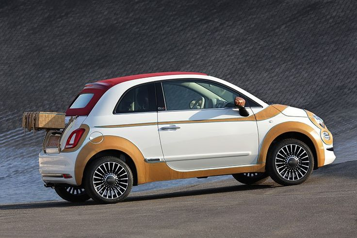 Stefano Canticelli's bespoke Fiat 500 comes dressed in calf-skin leather