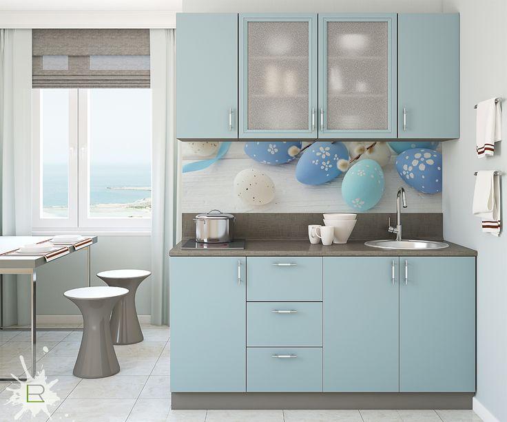 Wielkanocna fototapeta w kuchni http://bit.ly/niebieskie-pisanki