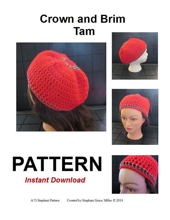 Pattern  Crown & Brim Tam  Instant Download by TiStephani on Etsy, $3.50