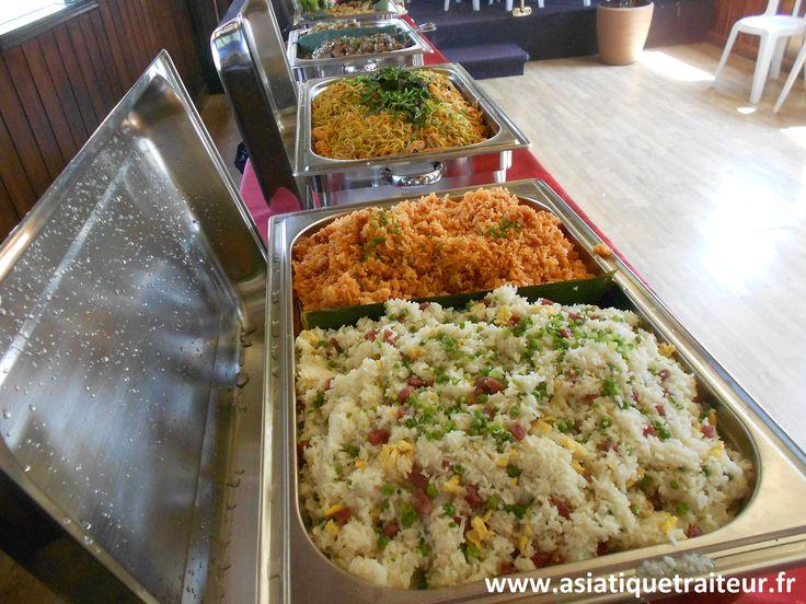 Réception buffet asiatique