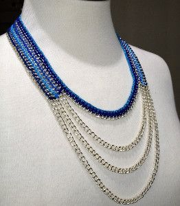 The Midnight Walk Multistrand Necklace is a stunning crochet necklace pattern that really makes a statement.