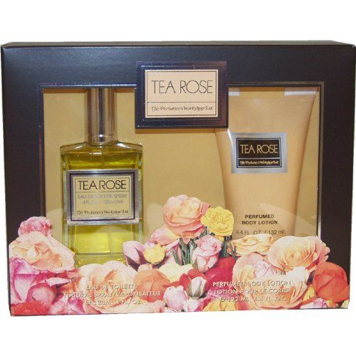 Tea Rose By Perfumers Workshop For Women. Set-edt Spray 4 oz & Body Lotion 4.4 oz by Perfumers Workshop. $15.99