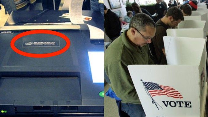 "ALERT: If You See A ""Smartmatic"" Voting Machine At The Polls, Here's What You MUST Do… October 23, 2016 Smartmatic Diebold can be checked for fraud. A newer machine my be just what the Democrats want. I say everyone voting for Trump wear RED shirts to the polls and take pictures of the crowd. If 70% of the crowd is red and Clinton wins your poll station by 70% or less...... Time to do it the hard way demand a paper ballot."
