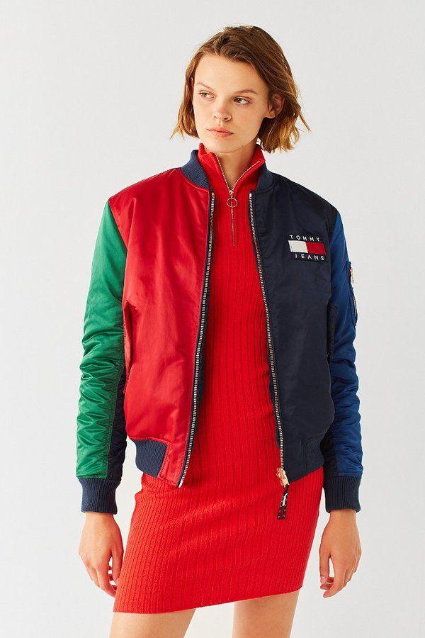 Tommy Jeans 90s Reversible Bomber Jacket 90s Style Pinterest