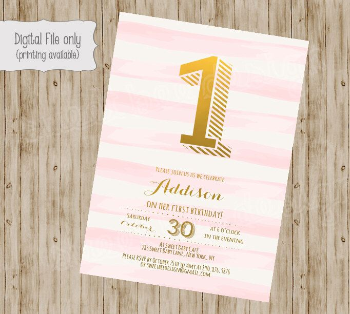 A personal favorite from my Etsy shop https://www.etsy.com/listing/203346395/1st-birthday-invitation-first-birthday