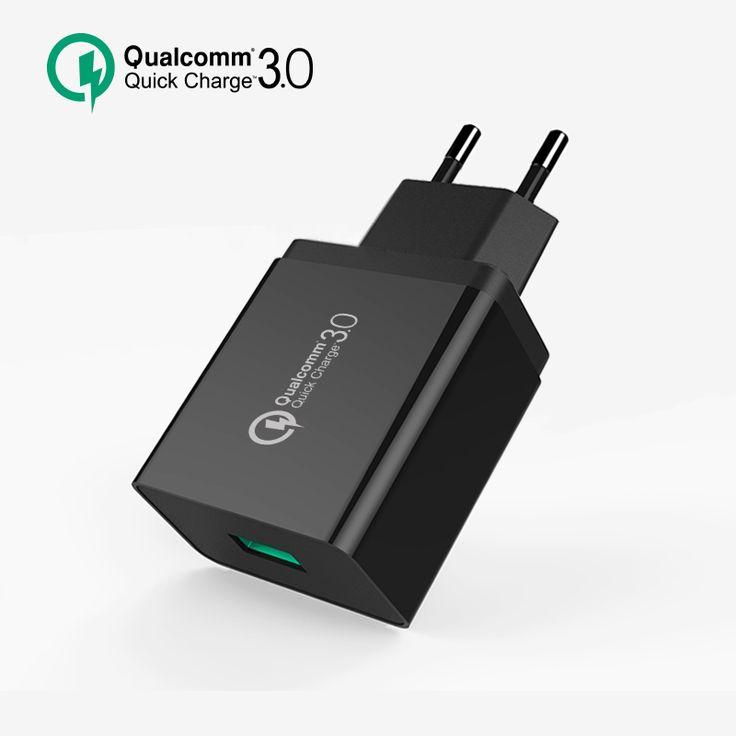 [Para Qualcomm Carga Rápida 3.0], 18 w de viaje rápido cargador de pared adaptador de la ue ee.uu. plug para iphone ipad samsung lg teléfono
