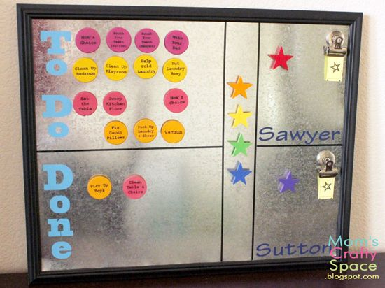 Magnetic Chore Chart from Mom's Crafty SpaceMom Crafty, Magnets Chore Charts, Charts Diy, Charts Magnets, Charts Goodideasandinform, Kids Ideas, Boys Guys, Beautiful Boys, Crafty Spaces
