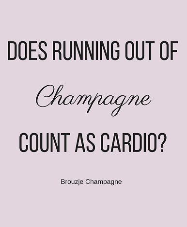 #Champagne cardio! Zo willen wij ook wel fitnessen! Bovendien zitten we in vergelijking tot andere alcoholische dranken weinig #calorieën in champagne! Kijk voor al onze bijzondere champagnes in de shop zodat je nooit te kort komt. www.brouzje.nl