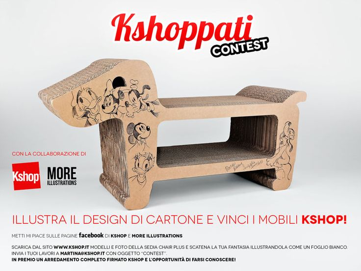 KSHOPPATI CONTEST! WIN YOUR #CARDBOARD #DESIGN #ROOM http://www.kshop.it/index.php?option=com_content=article=124=128