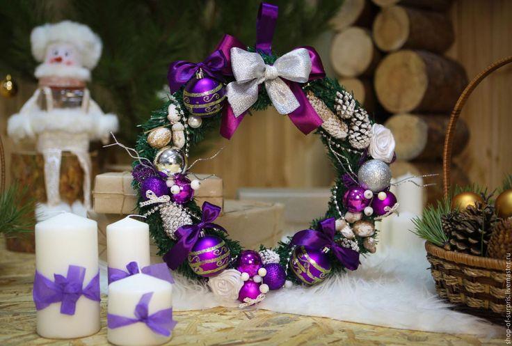 Купить Новогодние веночки - новогодние подарки, Новогодние сувениры, подарки своими руками, Новый Год