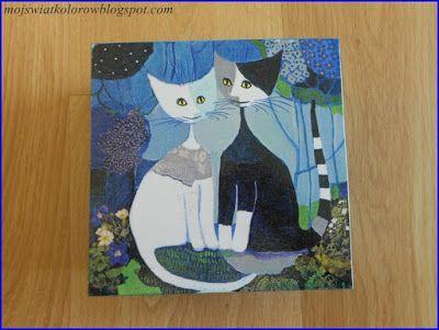 Mój świat kolorów...: Z kotami...
