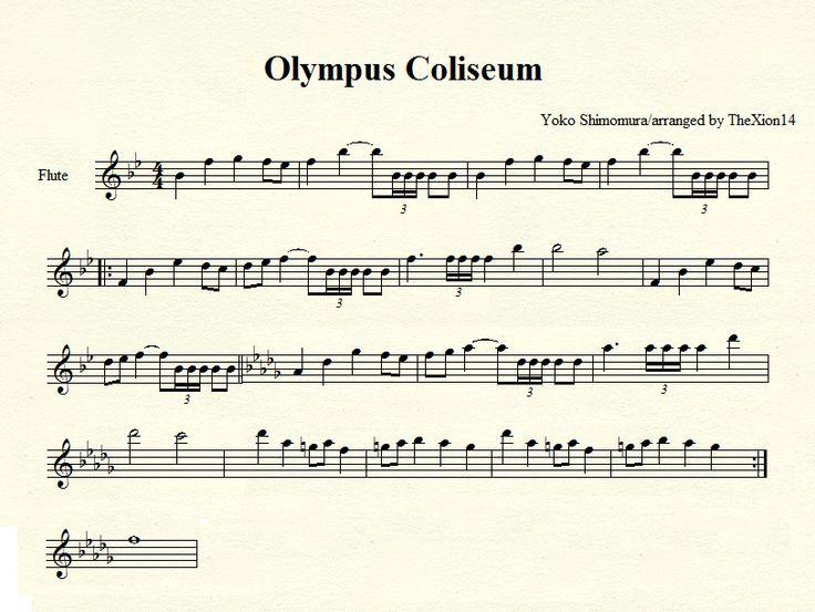 kingdom hearts flute sheet music | Olympus Coliseum-flute by ~TheXion14 on deviantART