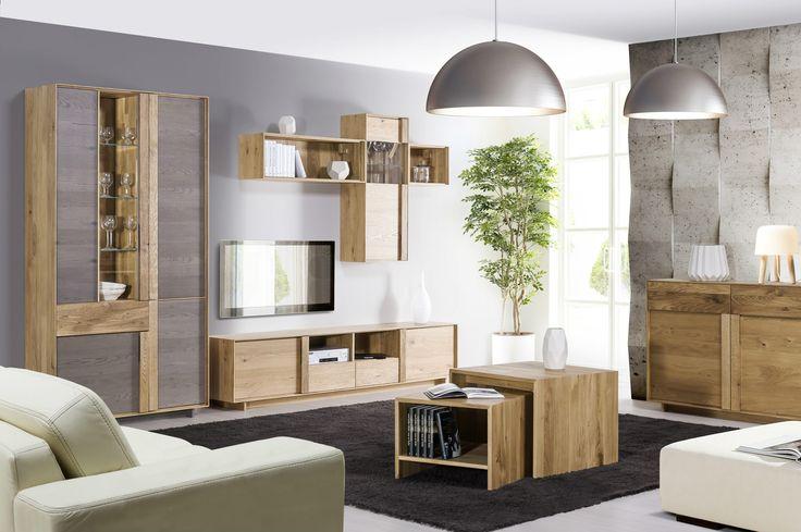 Modern style, natural colours and materials.  #scandinavian #interior #livingroom #KloseFurniture #woodenfurniture