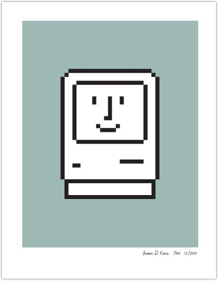 "Original artwork - ""Smiley Face"" computer image from old Mac computer    http://www.kareprints.com/?p=844#"
