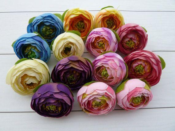 Set 14pcs flowers ranunculus for holiday от VitasjaCrochet на Etsy