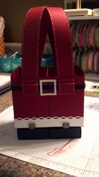Stampin' Up! Fancy Favor Box Cynthia Richards Santa Christmas