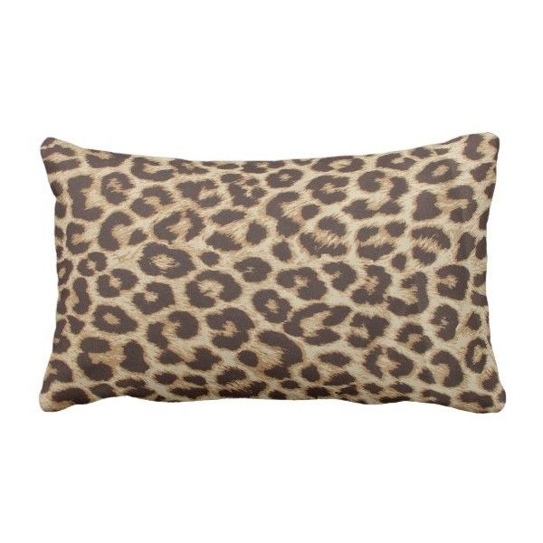 Leopard Print Lumbar Pillow (125 PEN) ❤ liked on Polyvore featuring home, home decor, throw pillows, decor, animals, cat, lumbar throw pillow, cat throw pillow, animal throw pillows and cat home accessories