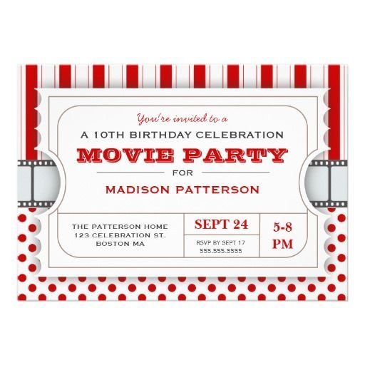 38 best Movie Ticket Project images on Pinterest Birthdays - movie ticket invitations template