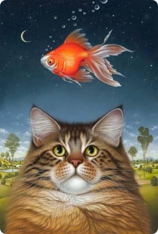 Resultado de imagen para ilustraciones con gatos