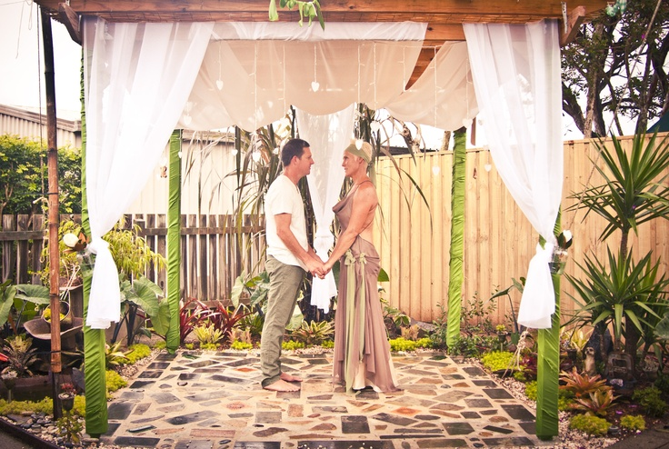 We Were Married Under The Pergola In Our Garden.......That We Built And Paved Ourselves.