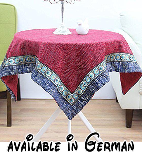 B077D8FVV6  WFLJL Tischdecke Im chinesischen Stil Modern Restaurant - wohnzimmer rot grau