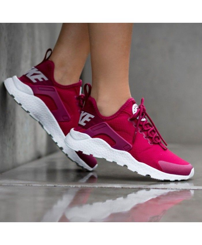8e5aea42131d Nike Air Huarache Run Ultra Noble Red White Trainers