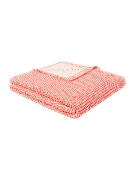 Two Colour Knit Throw Coral with link: https://www.houseoffraser.co.uk/home-and-furniture/dickins-and-jones-two-colour-knit-throw-coral/227657812.pd and I_227657812_00_20151202.?utmsource=pinterest