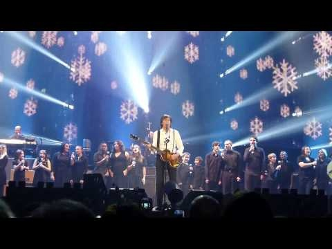 Published on Nov 30, 2012 by Dana Koch    Paul McCartney Edmonton 2nd Night - Wonderful Christmas Time. Complete with falling snow inside Rexall Place. Sorry for the verbiage at the beginning but i was super stoked when this started.