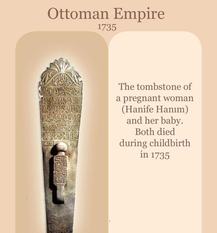 [Ottoman Empire] The Tombstone of a Pregnant Woman and Her Baby, 1735, Istanbul (Hamile Anne ve Bebeğinin Mezar Taşı)