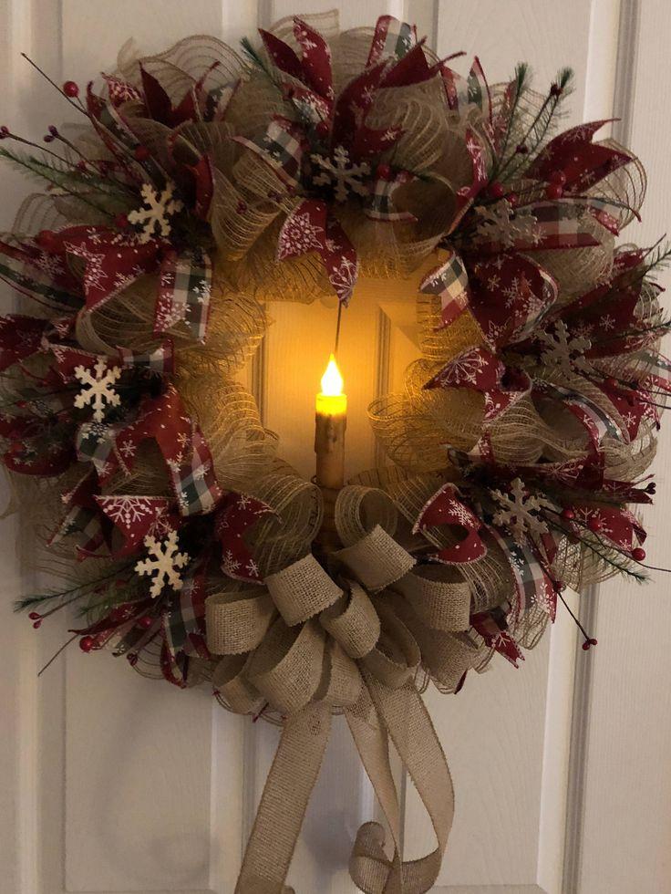 Best 25 Primitive Wreath Ideas On Pinterest Christmas