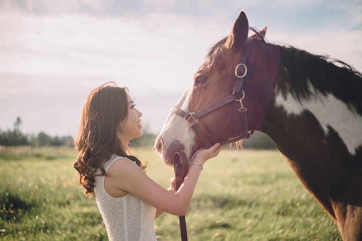 Bonding with the horses :)  Photograph taken in Langley, BC