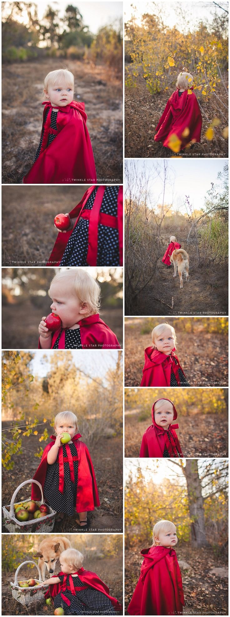 toddler photoshoot - little red riding hood. Santa Barbara Children's Photography {Halloween} - 1 year old photo ideas