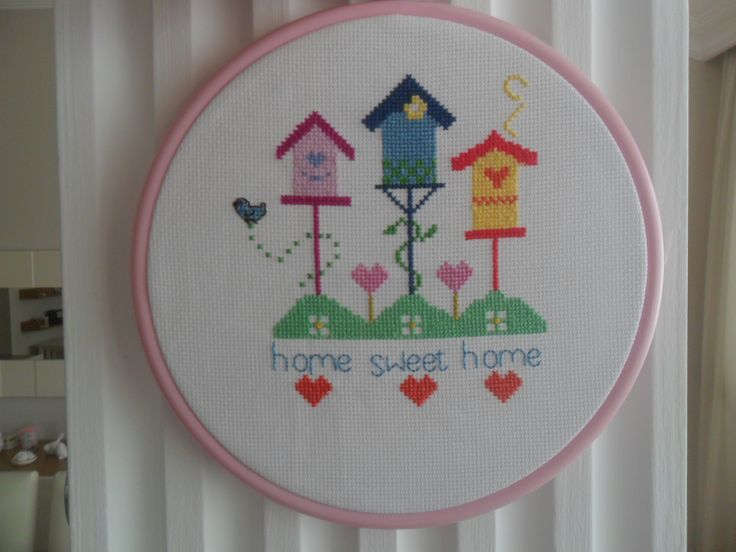 home sweet home cross stitch kanaviçe