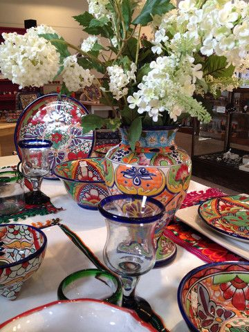 handmade talavera ceramics from Mexico