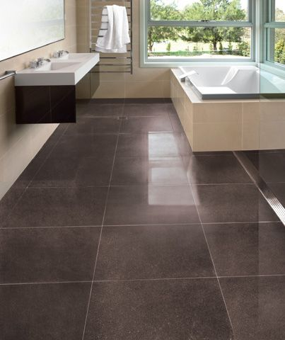 The RAK Ceramic Six Sense range (shown here in Brown) is impressive with its mysterious gleam that is a subtle interplay between matt and glossy surfaces. Exclusive to Elegance Tiles.