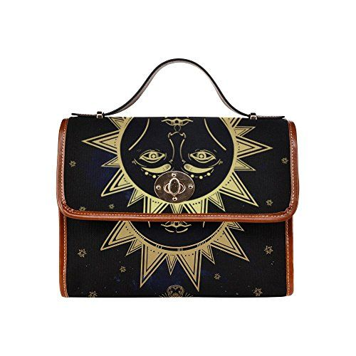 SLsenD Custom Womens Astrology Alchemy Magic Space Nature Symbol Waterproof Messenger Bag Canvas Bag Clutch Bag -- Check out this great product by click affiliate link Amazon.com