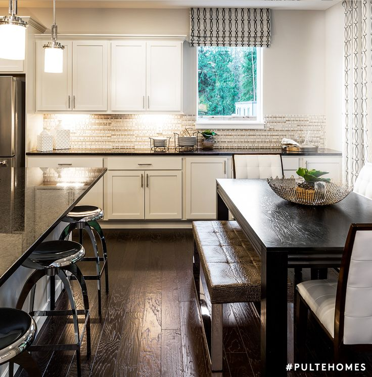 kitchen design for cooks. An open kitchen and dining area allow the whole family to spend mealtime  together even while you re cooking 103 best Kitchen Designs images on Pinterest Pulte homes