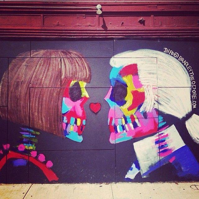Anna et Karl… #KarlLagerfeld #AnnaWintour #StreetArt #NewYork #Art #Paint #Artist #Graffiti #Graff #InstaPaint #Contemporain #Contemporary #Painting #Colors