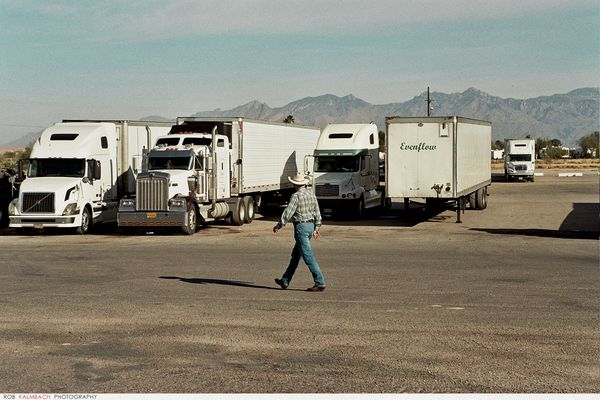 "TTT ""American Truck Stop"" by ROB KALMBACH, via Behance"