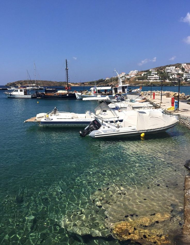 The crystal clear waters in Andros