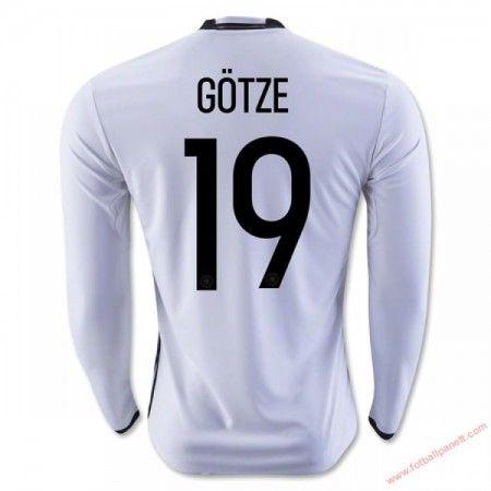 Tyskland 2016 Gotze 19 Hjemmedrakt Langermet.  http://www.fotballpanett.com/tyskland-2016-gotze-19-hjemmedrakt-langermet-1.  #fotballdrakter